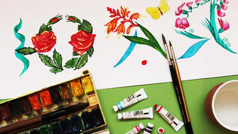 Разукрашиваем красками, карандашами или фломастерами