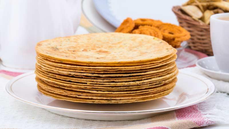 индийский хлеб с пажитником Methi Paratha travart.ru