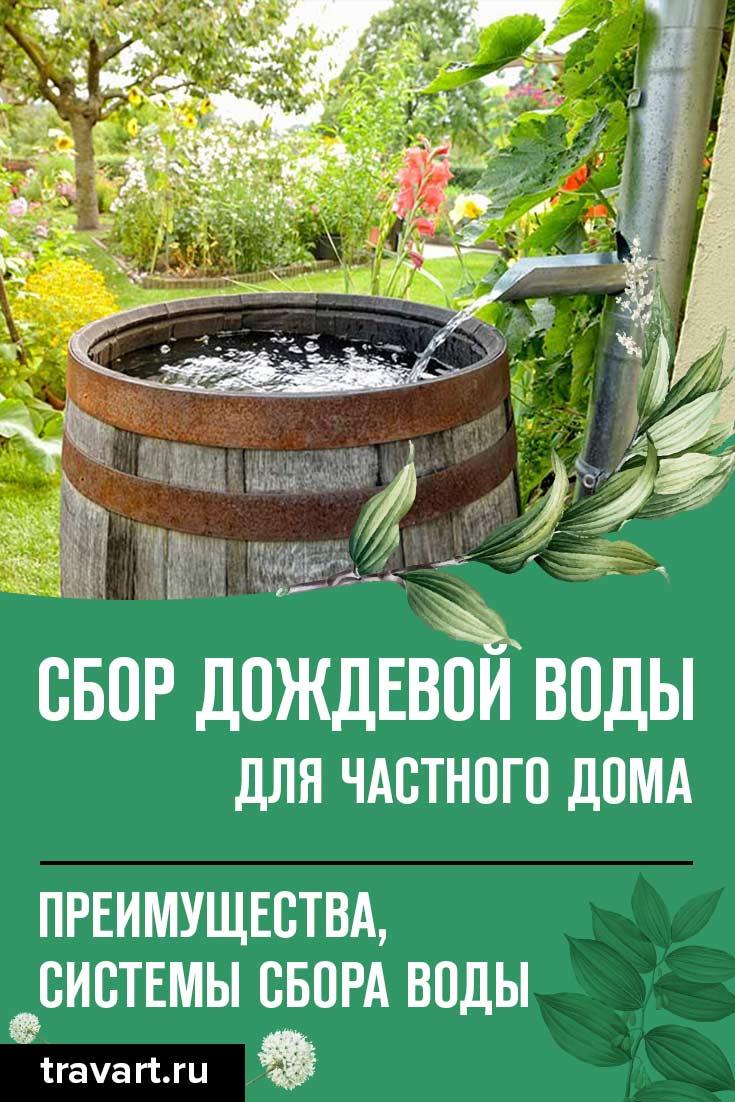 Система сбора дождевой воды и варианты использования