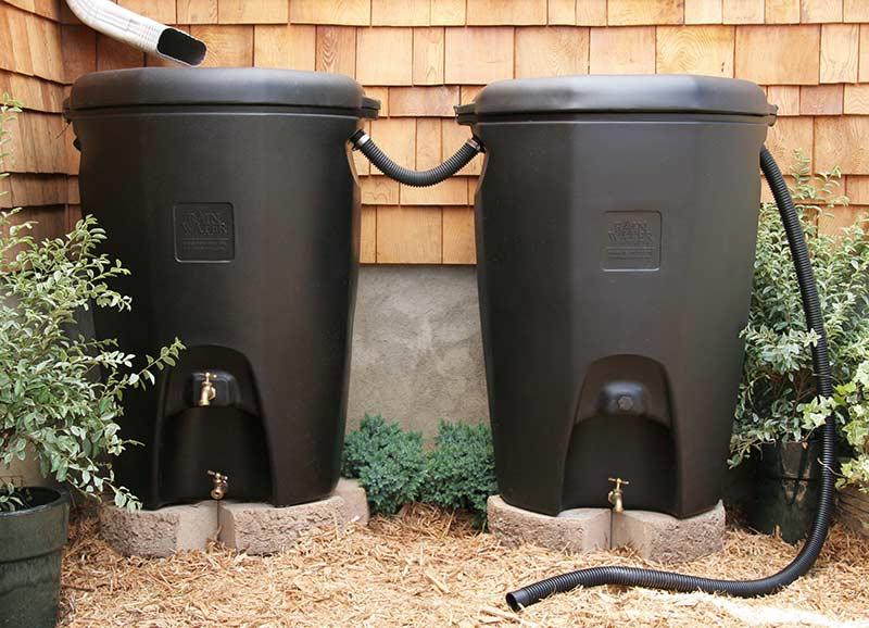 Система из бочек для сбора воды