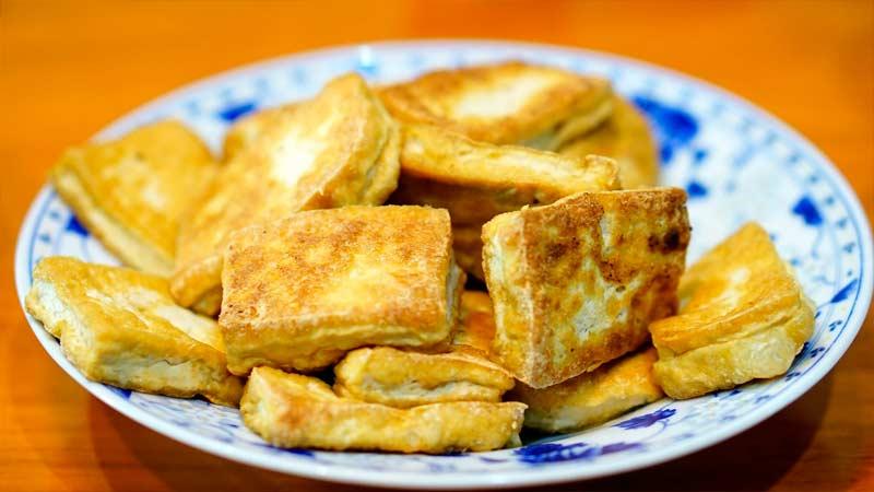 твердый жареный бобовый творог тофу